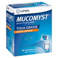 MUCOMYST 200 mg Poudre pour solution buvable en sachet B/18 à Clamart