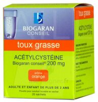 ACETYLCYSTEINE BIOGARAN CONSEIL 200 mg Pdr sol buv en sachet B/20 à Clamart
