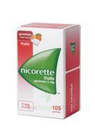 Nicorette 2 Mg Gomme à Mâcher Médicamenteuse Sans Sucre Fruits Plq/105 à Clamart