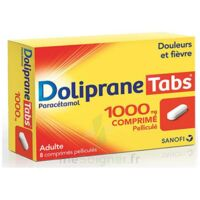DOLIPRANETABS 1000 mg Comprimés pelliculés Plq/8 à Clamart