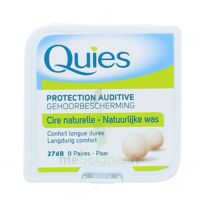QUIES PROTECTION AUDITIVE CIRE NATURELLE 8 PAIRES à Clamart