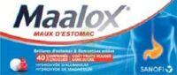 MAALOX MAUX D'ESTOMAC HYDROXYDE D'ALUMINIUM/HYDROXYDE DE MAGNESIUM 400 mg/400 mg SANS SUCRE FRUITS ROUGES, comprimé à croquer édulcoré à la saccharine sodique, au sorbitol et au maltitol à Clamart