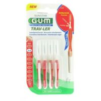 Gum Trav-ler 4 Brossettes Rouge Interdentaires 0.8mm à Clamart