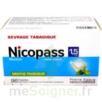 Nicopass 1,5 Mg Pastille Sans Sucre Menthe Fraîcheur Plq/96 à Clamart