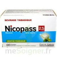 Nicopass 2,5 Mg Pastille Menthe Fraîcheur Sans Sucre Plq/96 à Clamart