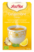 Yogi Tea Tisane Ayurvédique Gingembre Citron Bio 17 Sachets/1,8g à Clamart