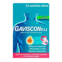GAVISCONELL Suspension buvable sachet-dose menthe sans sucre 12Sach/10ml à Clamart