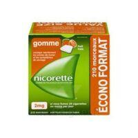 Nicorette 2 Mg Gomme à Mâcher Médicamenteuse Sans Sucre Fruits Plq/210 à Clamart