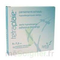 TETRAPLAIE Pansement adhésif stérile 5x7,2cm Pochette/10 à Clamart