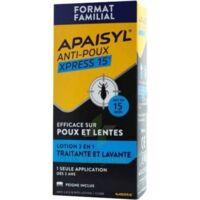 Apaisyl Anti-poux Xpress 15' Lotion Antipoux Et Lente 100ml+peigne à Clamart