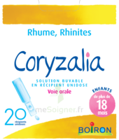 Boiron Coryzalia Solution buvable unidose B/20 à Clamart