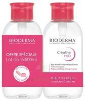 CREALINE H2O Solution micellaire nettoyante apaisante sans parfum 2Fl pompe inversée/500ml à Clamart